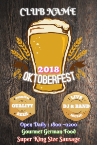 40 Dark Wood Oktoberfest Flyers
