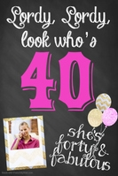 40 Forty Birthday poster template party event flyer