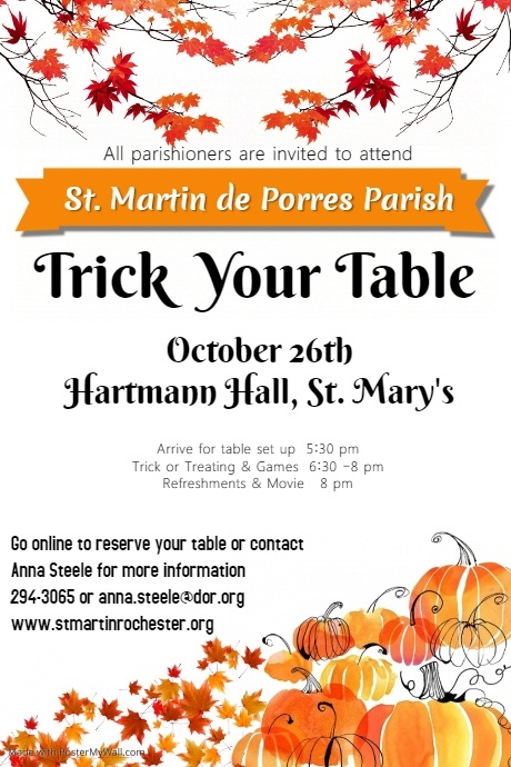 Harvest Party Poster template