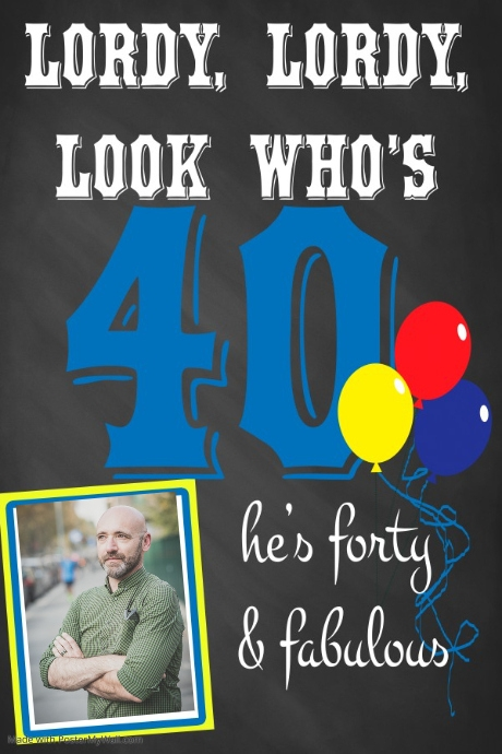 40th Birthday Poster Template Postermywall