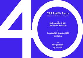 40th Blue