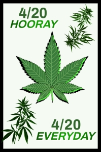420 Weed Day Poster Template