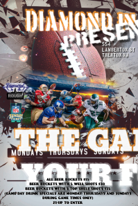 NFL GAME DAY FLYER Poster template