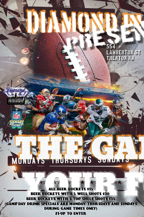 NFL GAME DAY FLYER