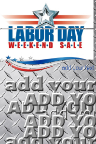 Labor Day Weekend Sale Auto Metal Flyer Ad