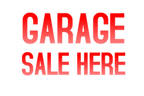 Garage Sale: Sign for Destination