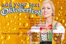OKTOBERFEST HOLIDAYS BEER GIRL BAR EVENT