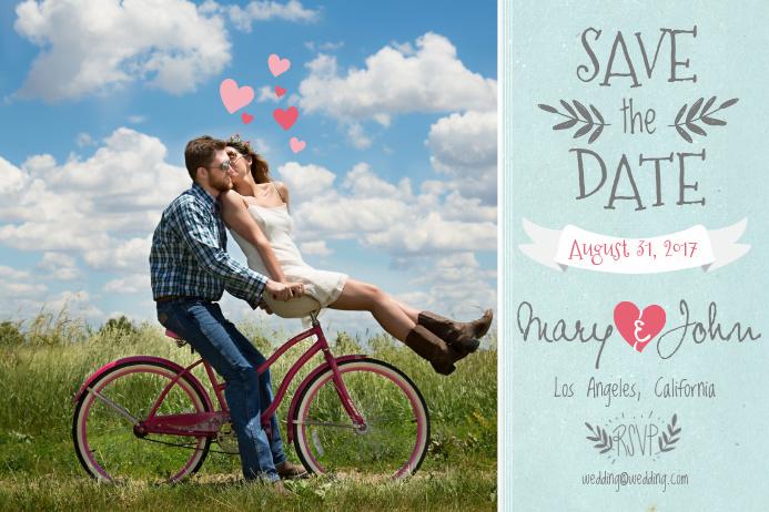 Wedding Postcard Template Poster