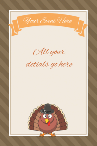 Thanksgiving Fall Invitation Poster Flyer Retail template