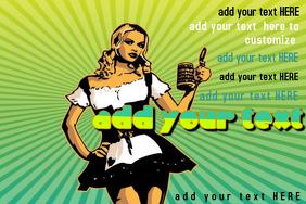 Retro Pin-Up Girl Bar Band Event Oktoberfest Halloween Costume Poster