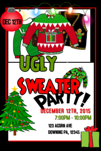 Ugly Christmas Sweater Party Invite.36 840 Ugly Christmas Sweater Party Invite Template