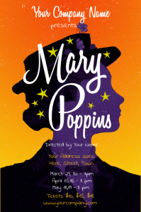 Mary Poppins Theater Poster Template
