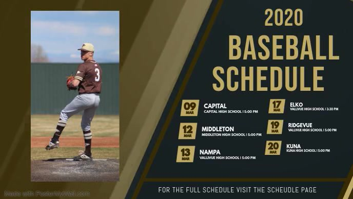 Baseball Schedule Digital Display Video
