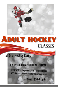 Adult hockey classes