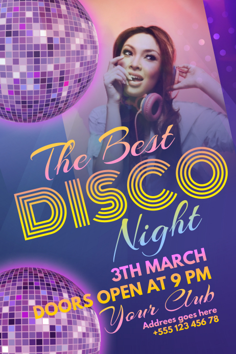 Disco Party Poster Template