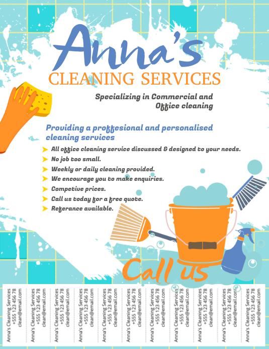 Cleaning Service Flyer Template Folder (US Letter)