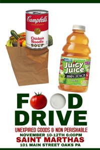 Food Drive  Can Food Drive Flyer Template