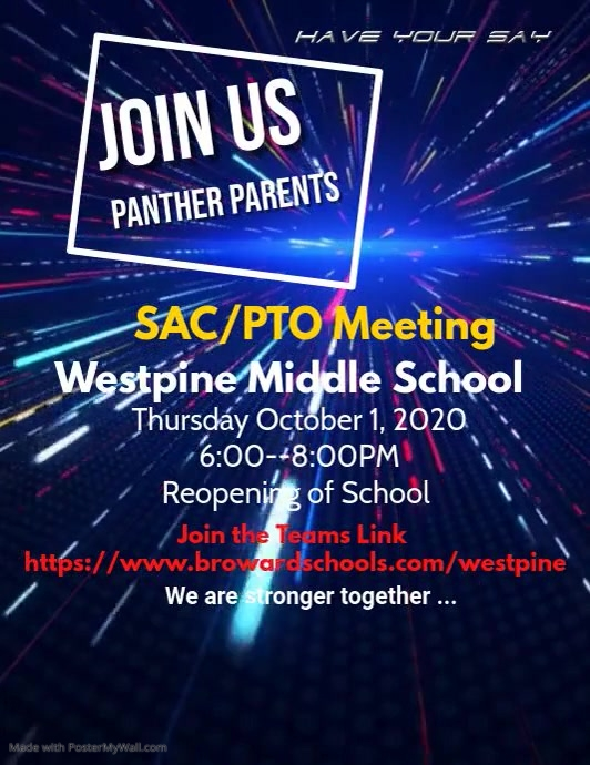 SAC/PTO Meeting Flyer (US Letter) template