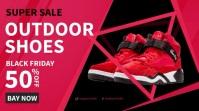 Facebook Ad Sport Shoes Sale Digitalanzeige (16:9) template