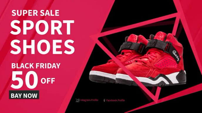 Facebook Ad Sport Shoes Sale Digital na Display (16:9) template