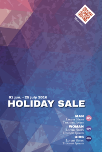 Sale poster template with abstract background - PosterMyWall