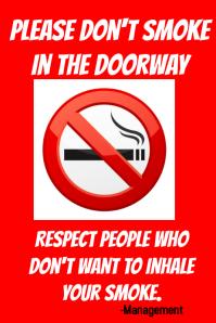 No Smoke Doorway