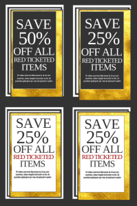 Coupons Poster template