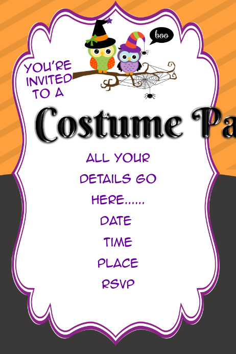 Halloween Costume Party Event Retail Flyer Poster