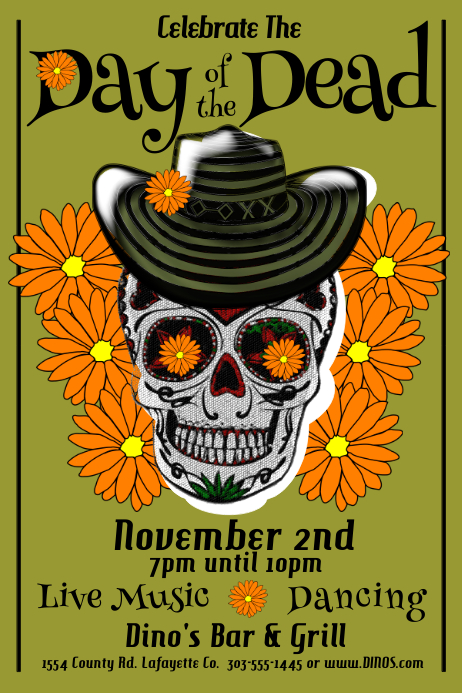 Day of the Dead Cartaz template