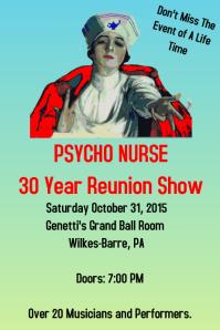 Psycho Nurse Reunion Flyer