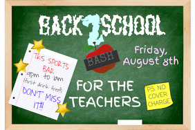 School Teacher Chalkboard Notebook Post It Blackboard Chalk Event Education Flyer
