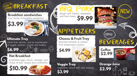 Breakfast Digital Menu Template