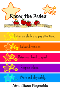 Know the rules sign