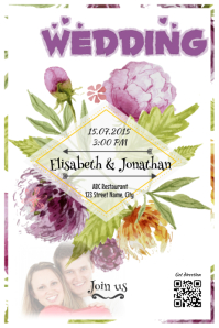 Invitation flyer - Great for wedding event