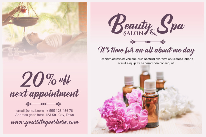 Design Free Beauty Salon Flyers | PosterMyWall