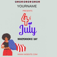 4th july 2021 independence day Instagram-Beitrag template