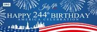 4th July America Birthday Banner Template