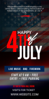 4th July Celebration Ad Roll Up Banner 3' × 6' template
