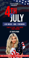 4th July Celebration Banner template