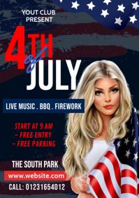 4th July Celebration Flyer A4 template