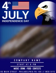 4th JULY Volantino (US Letter) template
