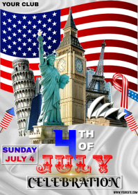 4TH JULY A4 template