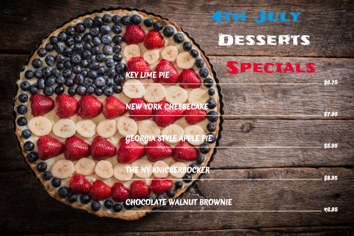 4th july desserts