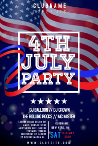 4th July DJ Event Party Template