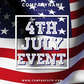 4th July Event Video Template