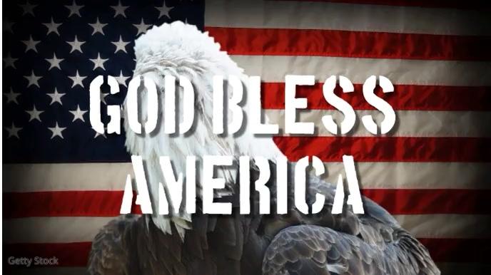 4th july god bless america eagle video flag Tampilan Digital (16:9) template