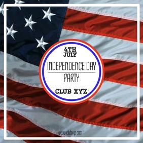 4th July independence day Instgram Post Square (1:1) template