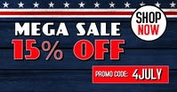 4th July independence day Sale retail shop template