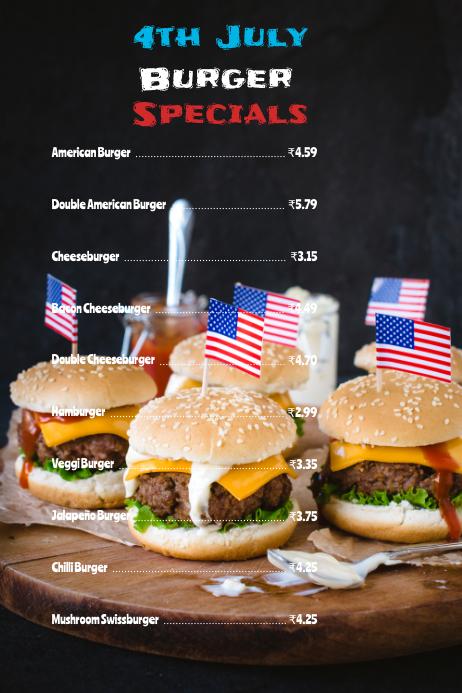 4th july menu