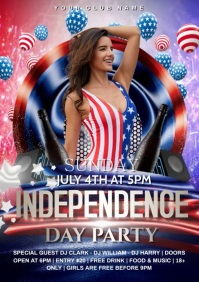4th july party A4 template